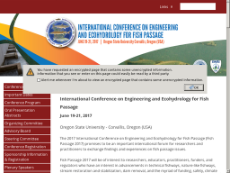 FISH PASSAGE 2015 – International conference on river connectivity best practices and innovation.